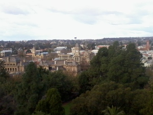 Bendigo CBD from Rosalind Park