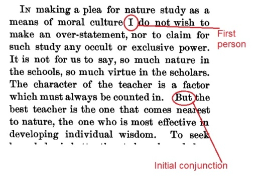 Jordan (1896) Nature Study & Moral Culture. Science 4(84):149-156.